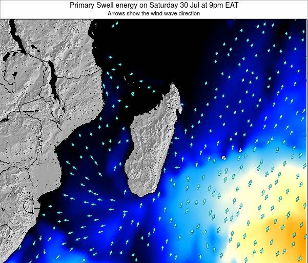 Mauritius Primary Swell energy on Sunday 03 Aug at 3pm EAT