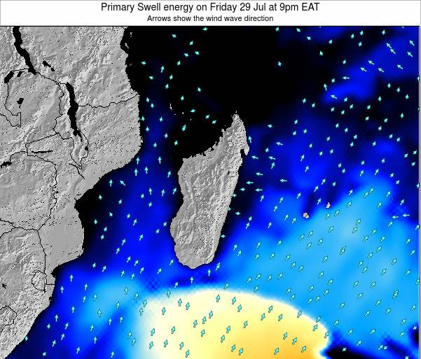 Mauritius Primary Swell energy on Monday 28 Apr at 9pm EAT