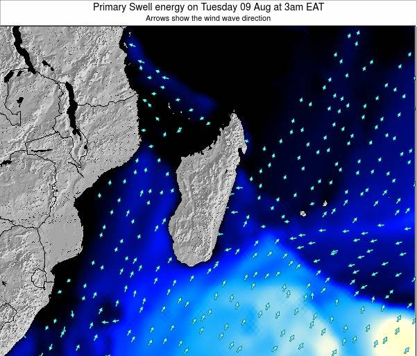 Mauritius Primary Swell energy on Thursday 06 Nov at 9am EAT