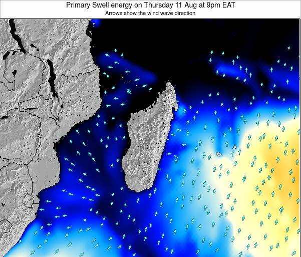 Mauritius Primary Swell energy on Wednesday 23 Apr at 9pm EAT