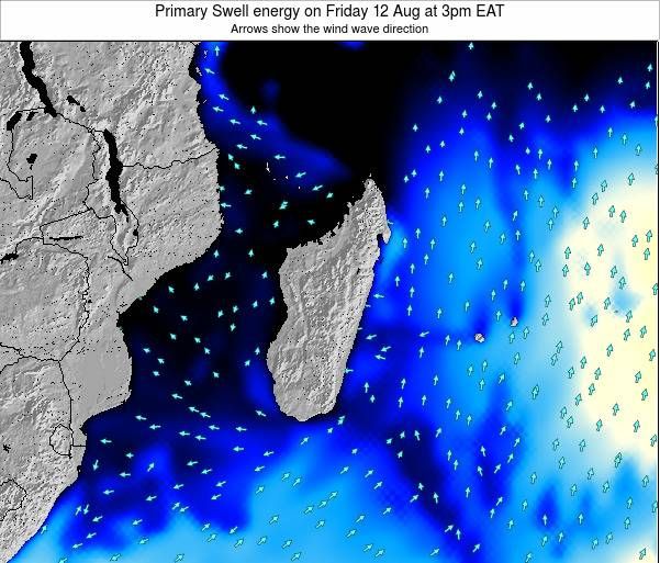 Mauritius Primary Swell energy on Tuesday 17 Dec at 9pm EAT