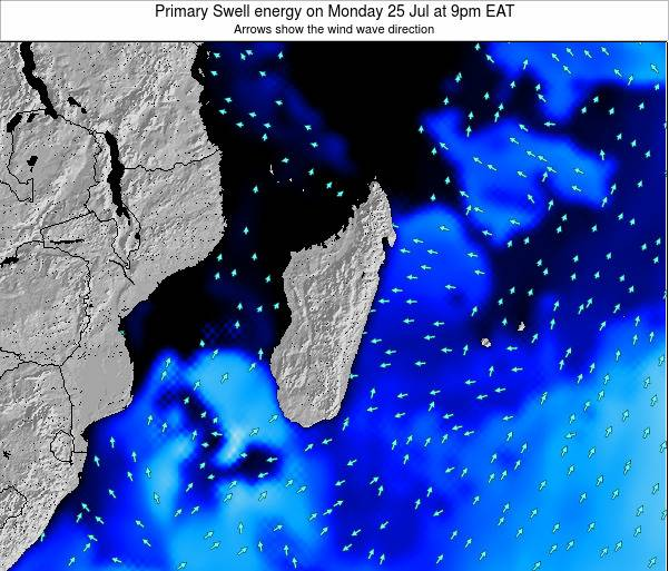 Mauritius Primary Swell energy on Wednesday 23 Apr at 3pm EAT