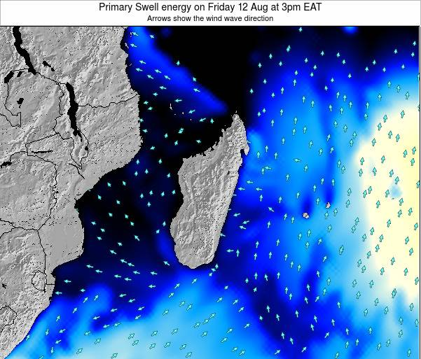 Mauritius Primary Swell energy on Saturday 01 Jun at 3am EAT