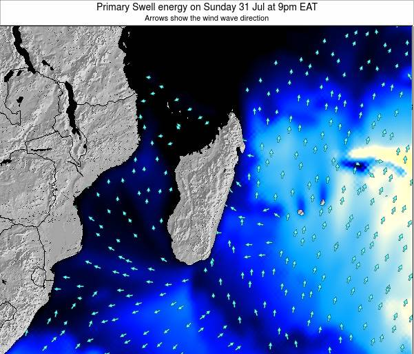 Mauritius Primary Swell energy on Tuesday 18 Mar at 3am EAT
