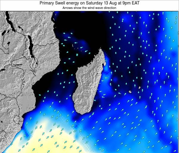 Mauritius Primary Swell energy on Friday 07 Nov at 9am EAT