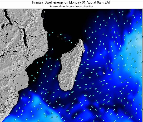 Mauritius Primary Swell energy on Friday 20 Dec at 9am EAT