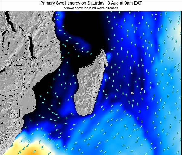Mauritius Primary Swell energy on Wednesday 06 Aug at 3am EAT