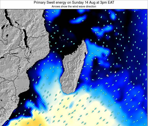 Mauritius Primary Swell energy on Tuesday 29 Apr at 9pm EAT