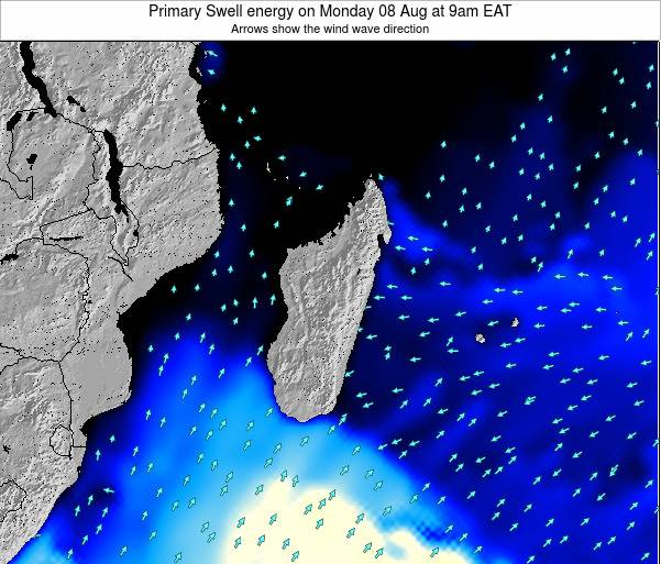 Madagascar Primary Swell energy on Tuesday 21 May at 9am EAT