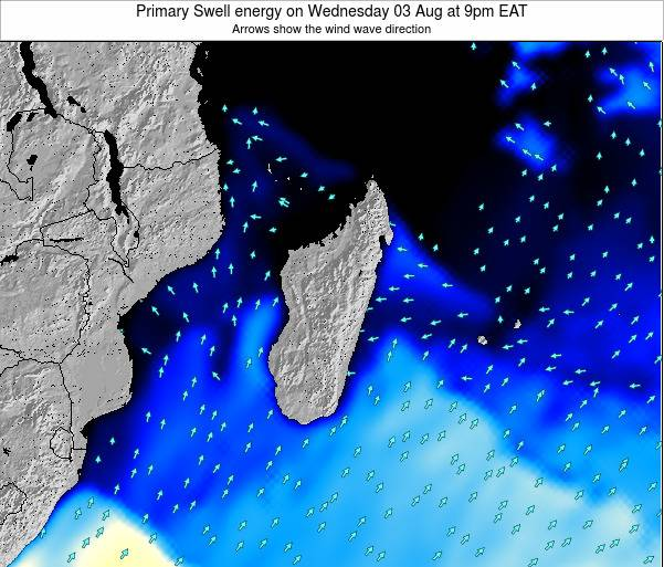 Mauritius Primary Swell energy on Friday 24 May at 3am EAT