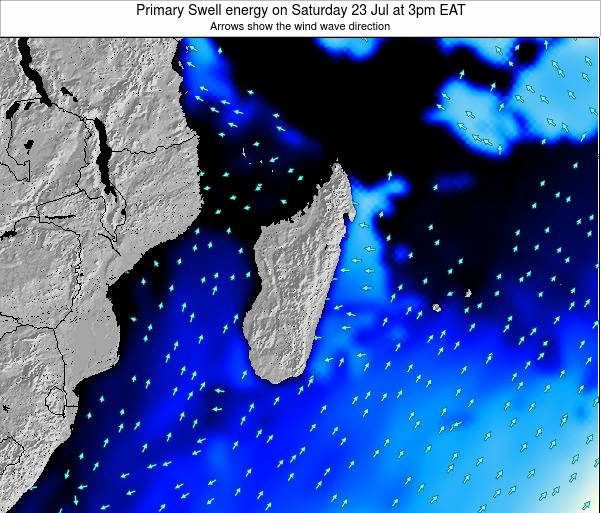 Madagascar Primary Swell energy on Saturday 25 May at 9am EAT