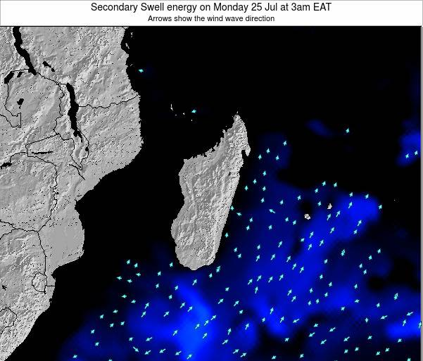 Comoros Secondary Swell energy on Wednesday 23 May at 3pm EAT map