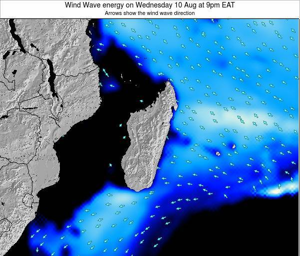 Mauritius Wind Wave energy on Tuesday 13 Dec at 3am EAT