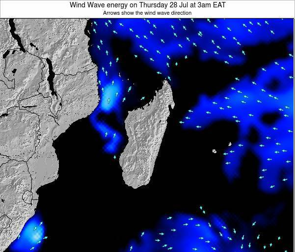 Mauritius Wind Wave energy on Tuesday 22 Apr at 3pm EAT