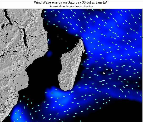 Mauritius Wind Wave energy on Friday 07 Aug at 3am EAT