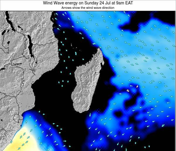 Mauritius Wind Wave energy on Friday 09 Dec at 9am EAT