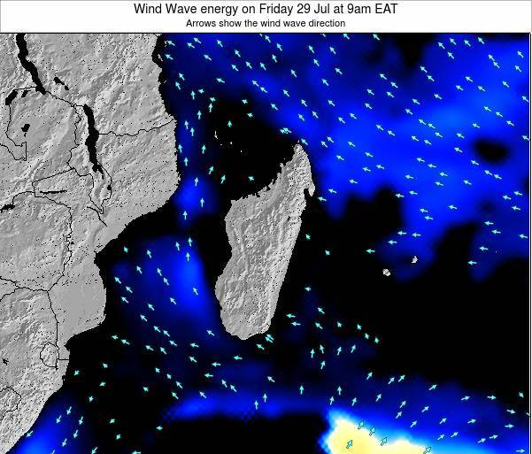 Mauritius Wind Wave energy on Tuesday 11 Mar at 3pm EAT