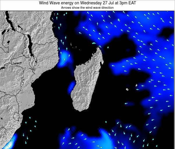 Mauritius Wind Wave energy on Friday 27 Apr at 3pm EAT map