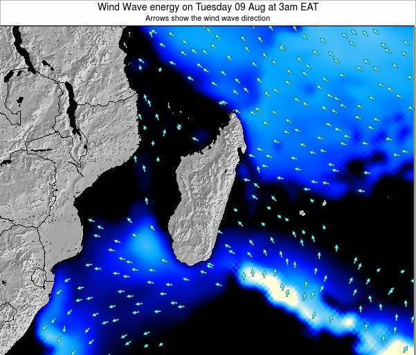 Mauritius Wind Wave energy on Wednesday 30 Jul at 3pm EAT