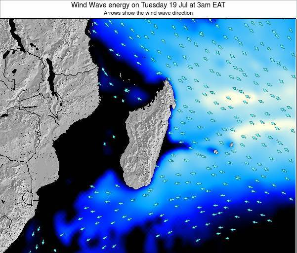 Mauritius Wind Wave energy on Tuesday 22 Apr at 9pm EAT