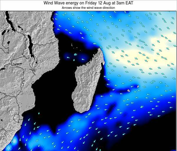 Mauritius Wind Wave energy on Monday 04 Aug at 9am EAT