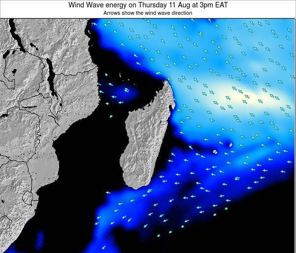 Mauritius Wind Wave energy on Saturday 25 May at 9am EAT