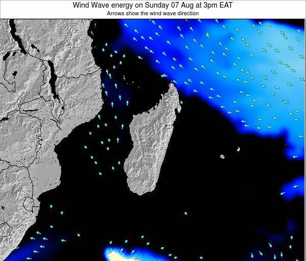 Madagascar Wind Wave energy on Friday 24 May at 3pm EAT
