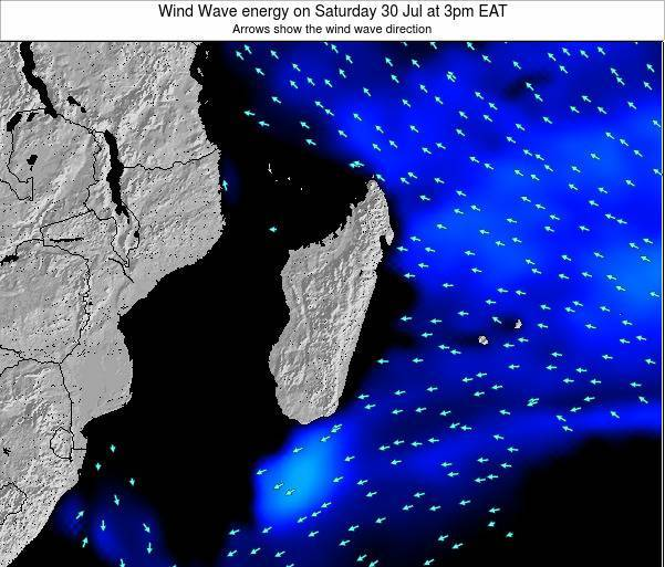 Mauritius Wind Wave energy on Monday 24 Oct at 9am EAT