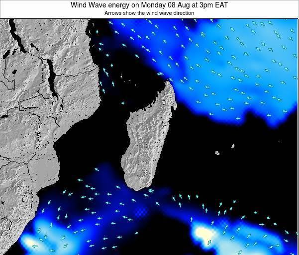 Mauritius Wind Wave energy on Sunday 20 Apr at 9am EAT