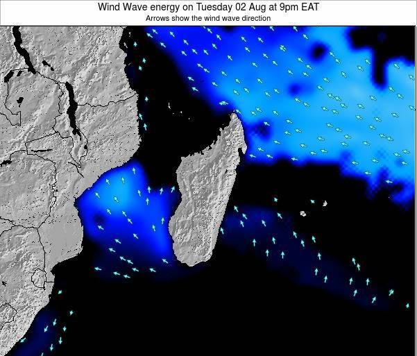 Mauritius Wind Wave energy on Friday 18 Aug at 9am EAT