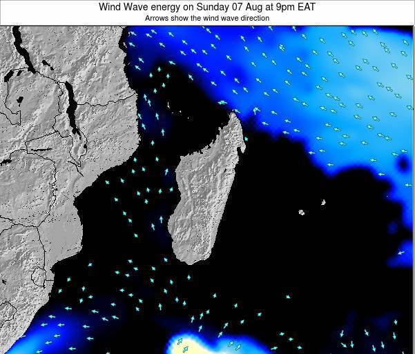 Mauritius Wind Wave energy on Thursday 23 Oct at 3am EAT
