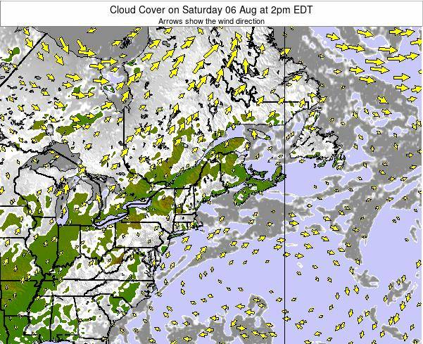 Maine Cloud Cover on Friday 24 May at 8pm EDT map