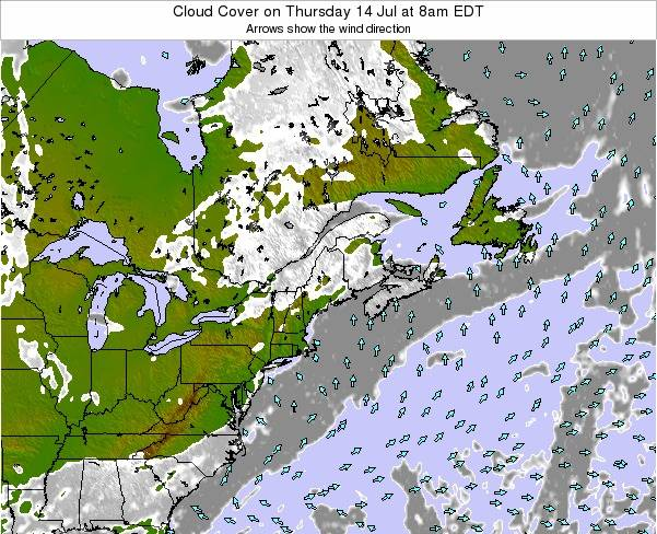 New-Hampshire Cloud Cover on Wednesday 22 May at 2pm EDT