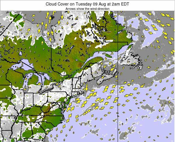 Maine Cloud Cover on Saturday 25 May at 2am EDT