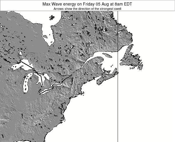 Maine Max Wave energy on Wednesday 25 Apr at 2am EDT map