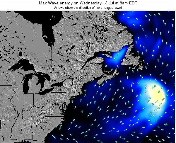 Maine Max Wave energy on Sunday 21 Jan at 7pm EST map