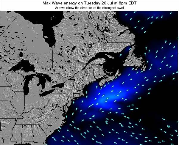 Maine Max Wave energy on Sunday 24 Jun at 8pm EDT map