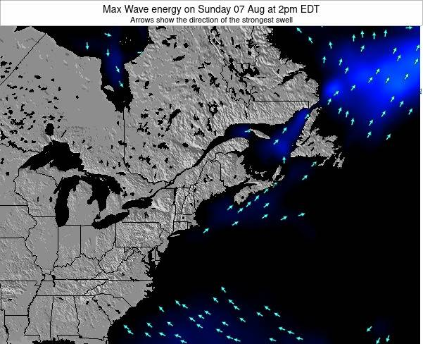 Maine Max Wave energy on Tuesday 24 Oct at 2am EDT