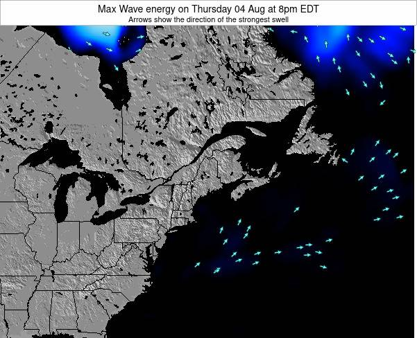 Maine Max Wave energy on Friday 01 Aug at 8pm EDT