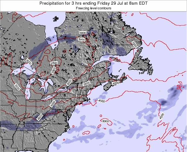 New-Hampshire Precipitation for 3 hrs ending Sunday 20 Apr at 2pm EDT