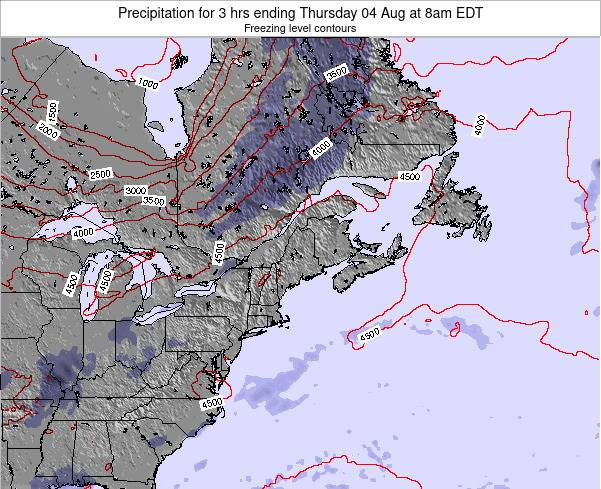 New-Hampshire Precipitation for 3 hrs ending Tuesday 11 Mar at 7pm EST