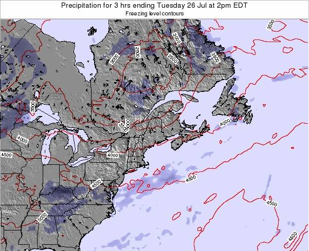 Maine Precipitation for 3 hrs ending Wednesday 10 Feb at 7pm EST