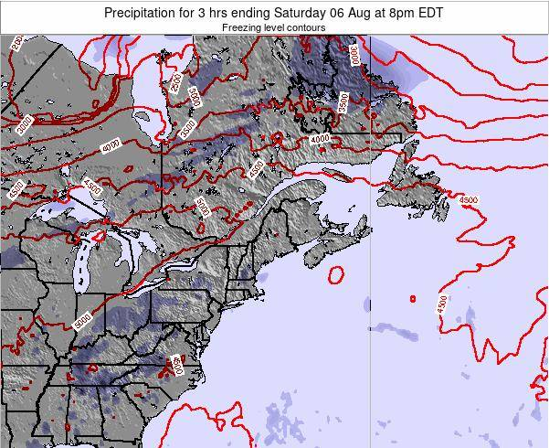 Maine Precipitation for 3 hrs ending Monday 27 Apr at 8pm EDT