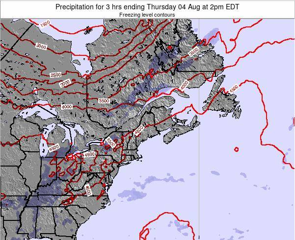 Maine Precipitation for 3 hrs ending Monday 20 May at 8pm EDT