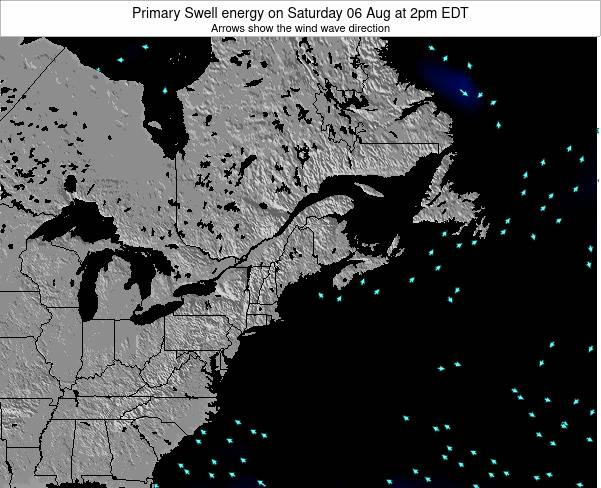 Maine Primary Swell energy on Saturday 27 Sep at 8am EDT