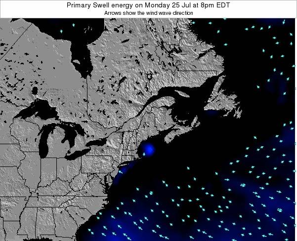Maine Primary Swell energy on Sunday 01 May at 2pm EDT