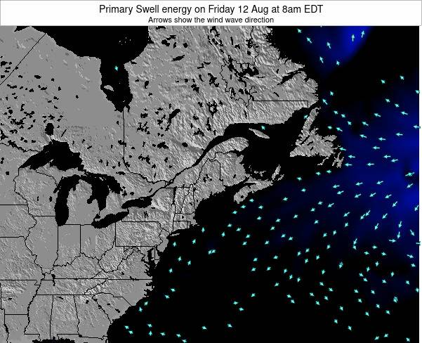Maine Primary Swell energy on Sunday 28 Jan at 1am EST map