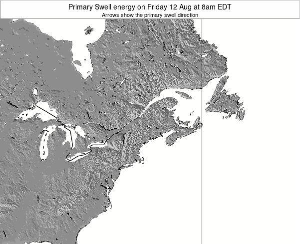 Maine Primary Swell energy on Wednesday 26 Sep at 8am EDT map