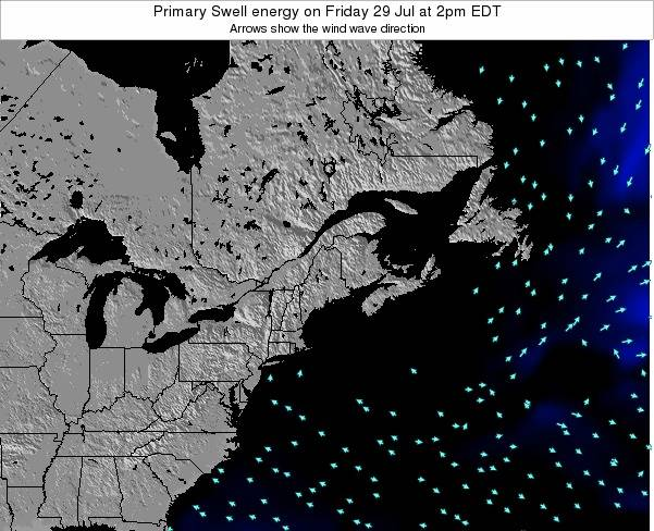 Maine Primary Swell energy on Friday 24 Apr at 8pm EDT