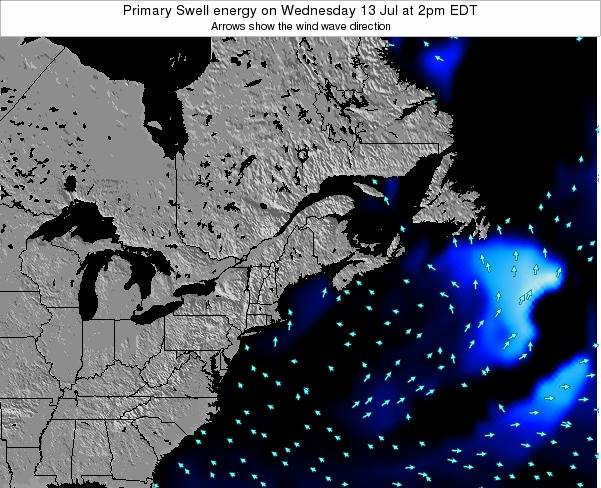 Maine Primary Swell energy on Monday 20 Feb at 1am EST